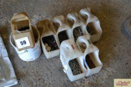 various nails, staples, insulators etc.