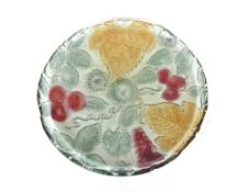 An Art Deco design leaf decorated platter, with gi