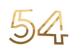 "A brass Art Deco design ""Studio 54"" sign"