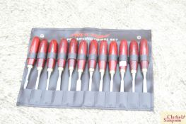 Wood carving chisels.*