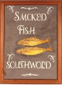 """""""Smoked Fish Southwold"""", painted advertising picture"""