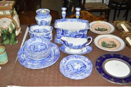 A quantity of Spode Italian patterned china to inc