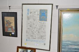 A framed and glazed print relating to the county o