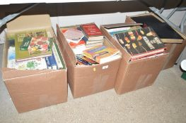 Four boxes of books