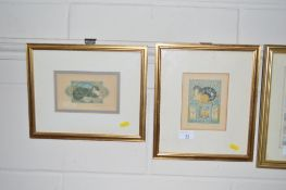 Isobel Brent, pair of pencil signed limited editio