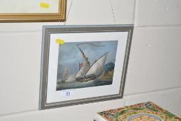 Two framed and glazed prints each depicting ships