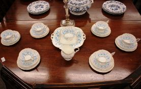 """A quantity of Coalport """"Harebell"""" teaware, comprising six cups, saucers, milk jug, sugar bowl, small"""