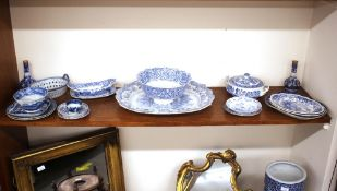 "A 19th Century Copeland & Garrett late Spode pedestal fruit bowl, decorated the ""Warwick Vase"""