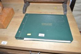 The Frindall loose leaf cricket scoring book