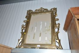 A modern gold painted picture frame