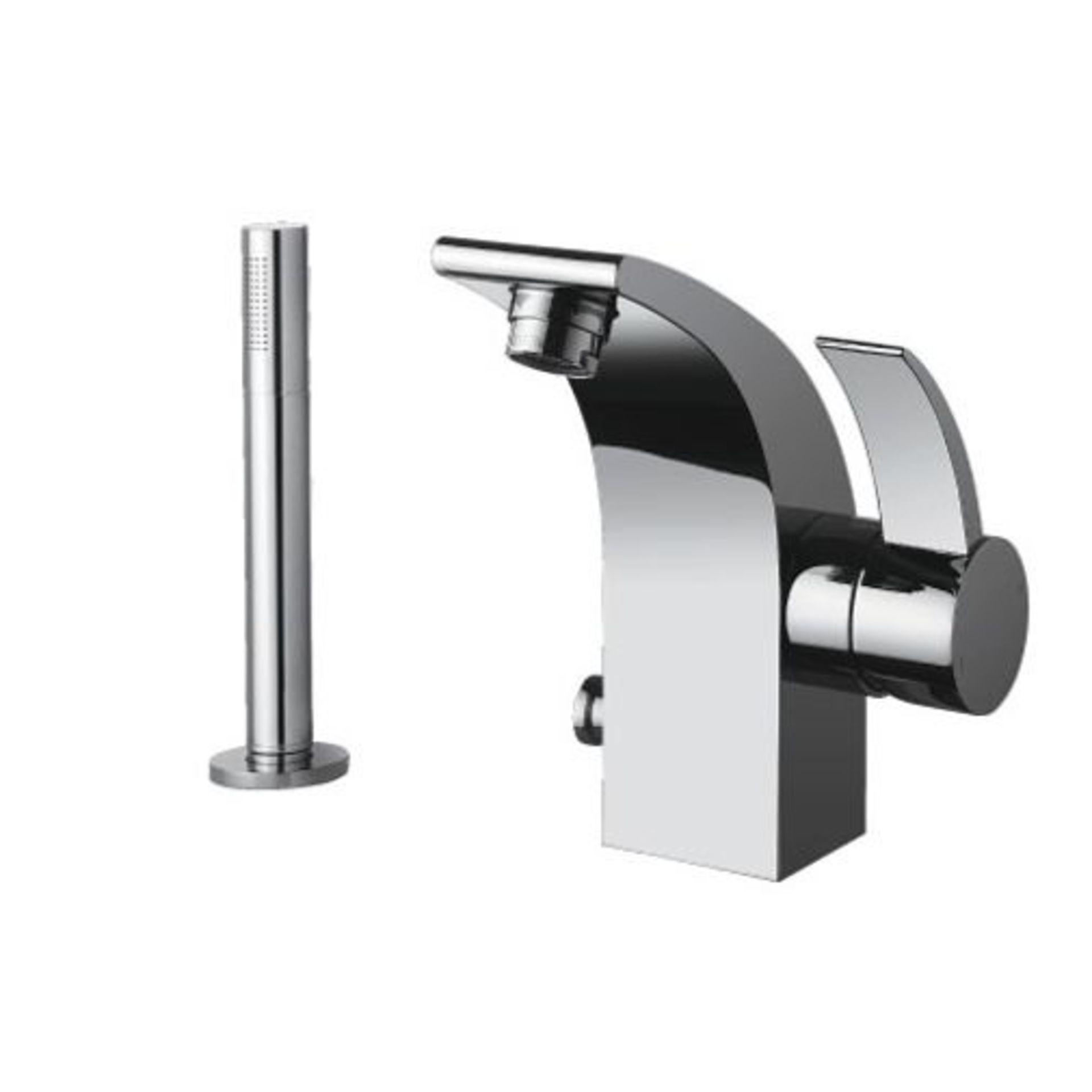 Lot 8 - Bathstore 'Sublime' very high quality, designer bath & shower mono mixer tap.
