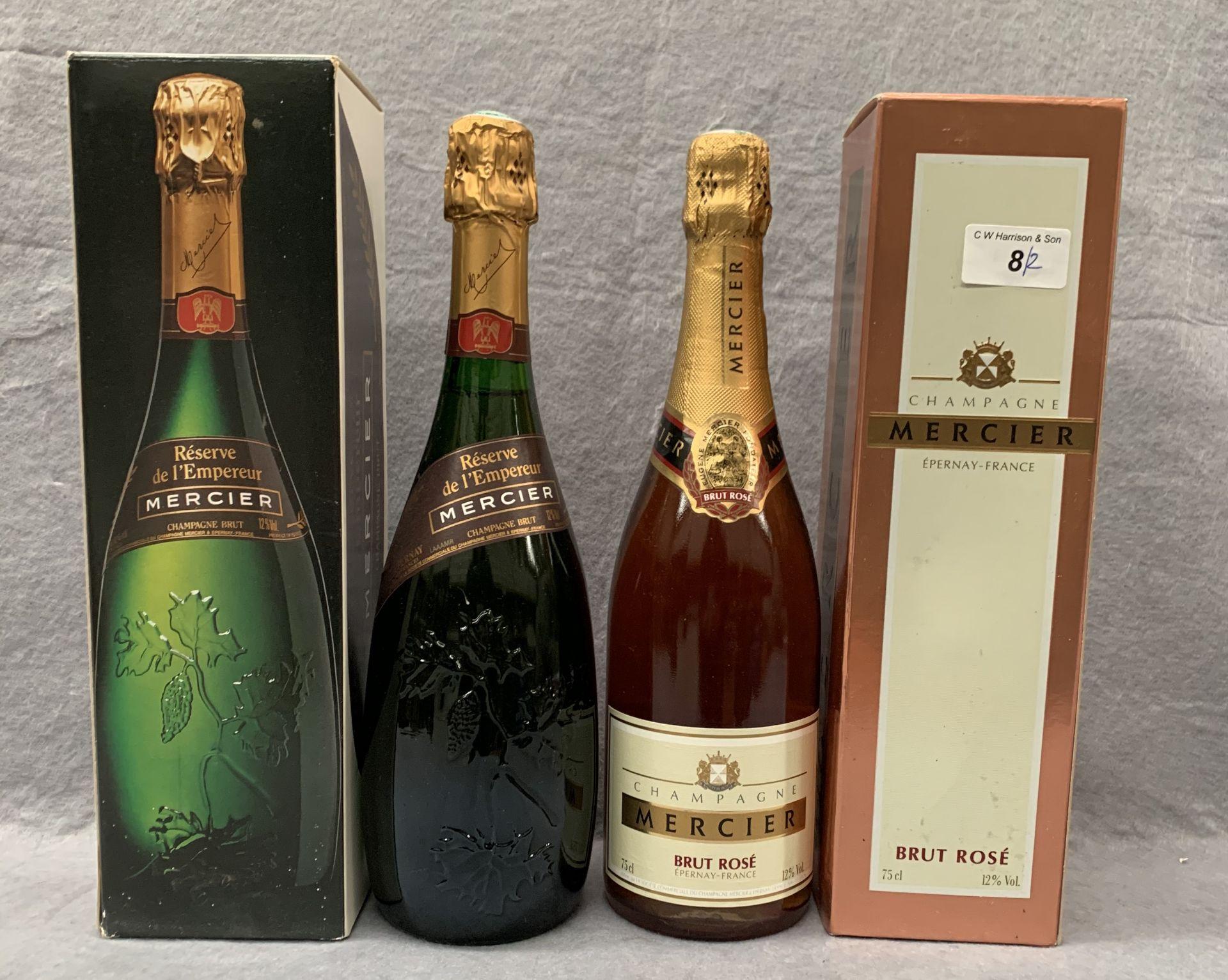 Lot 8 - A 75cl bottle of Mercier Reserve de l'Empereur Champagne Brut in presentation box and a 75cl bottle