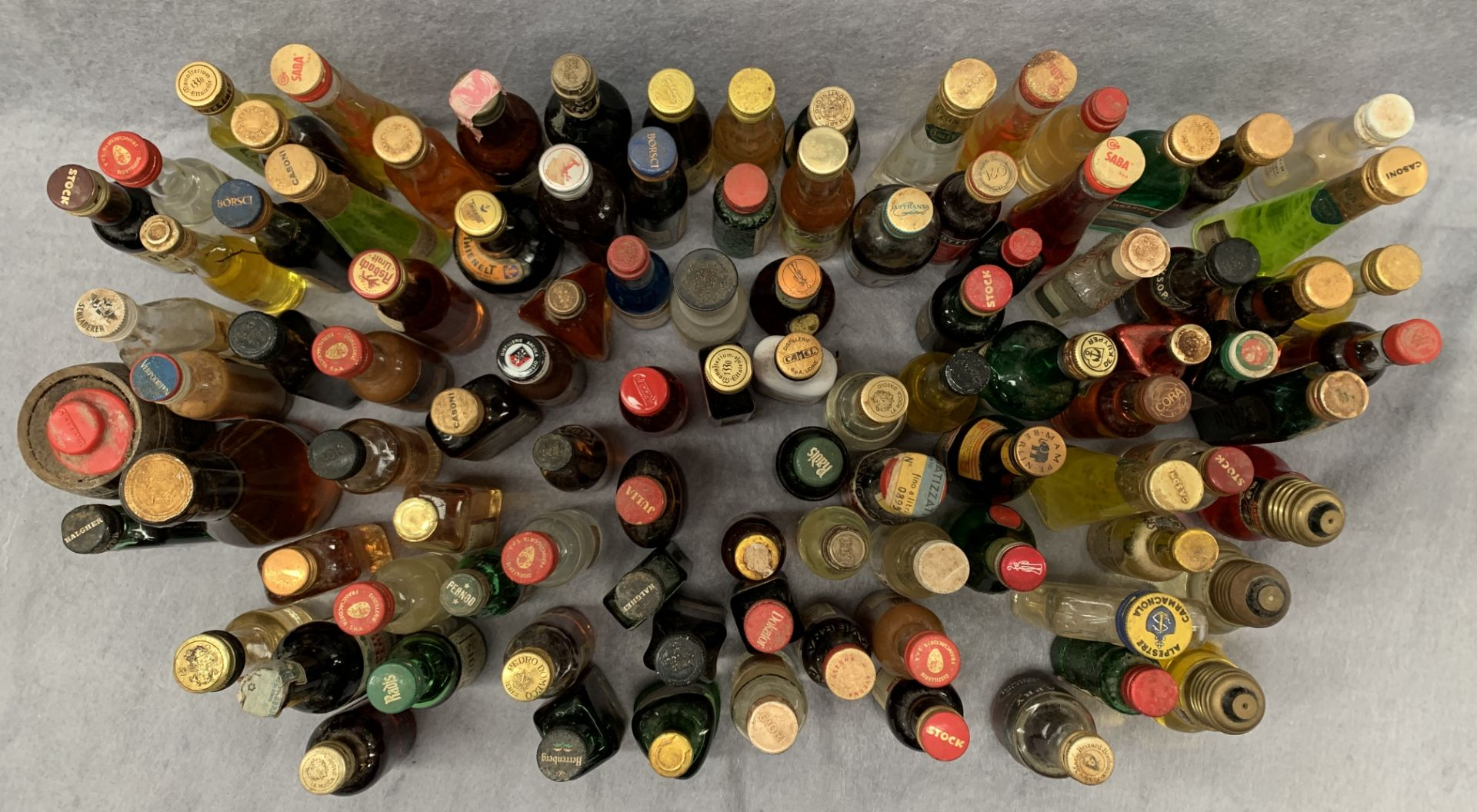 Lot 10 - Approximately 95 full and part bottles of liqueur and spirit miniatures,