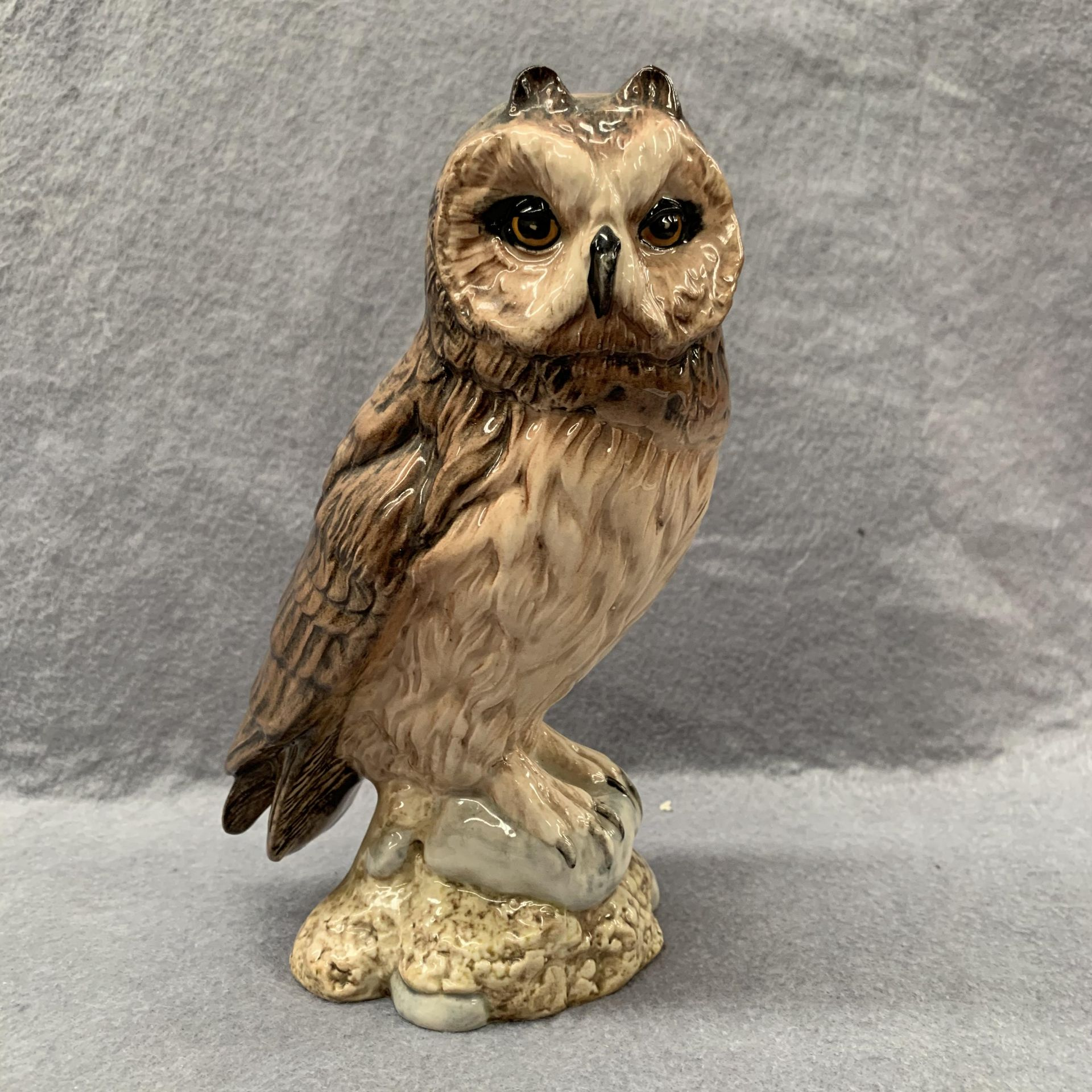 Lot 14 - A John Beswick Royal Doulton short-eared owl Beneagles Scotch Whisky ceramic liqueur decanter (part