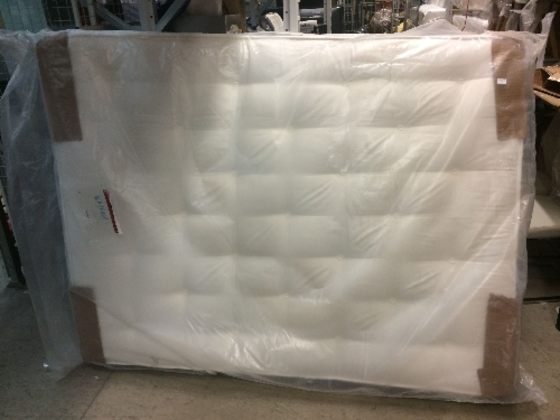 """Lot 1B - Pocket Sprung 2000 Mattress 4'6"""" - marked to corner by Shakespeare Beds"""