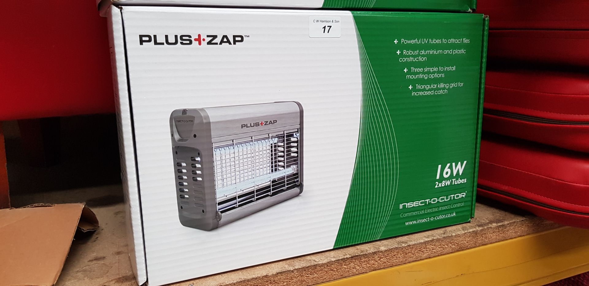 Lot 17 - PLUS ZAP 16W INSECT-O-CUTOR COMMERCIAL ELECTRIC INSECT CONTROL RRP £50