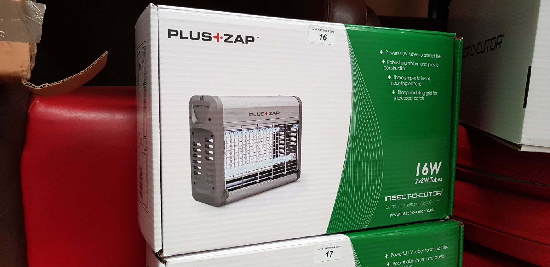 Lot 16 - PLUS ZAP 16W INSECT-O-CUTOR COMMERCIAL ELECTRIC INSECT CONTROL RRP £50