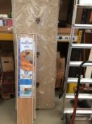 A Magnet brown speckled effect worktop approx 170 x 60cm and 2 packs Uniclic Quick-Step 700 light