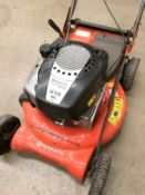 A Husqvarna R525 rotary petrol lawnmower 53cm cut width serial number 121707M001154,