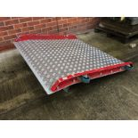 A Thor World galvanised chequer board loading ramp - 122 x 115cm wide.