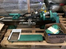 A Holbrook precision lathe - no motor (was 240v) or base but complete with 2 boxes of accessories -