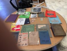 Contents to tray - a quantity of vintage machine tool catalogues, manuals, pamphlets etc.