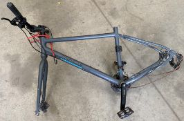 A Pinnacle gents bicycle frame in grey