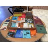 Contents to tray - a quantity of machine tool catalogues, manuals, pamphlets,