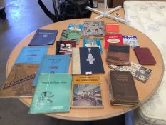 Contents to tray a quantity of vintage machine tool catalogues, manuals, pamphlets etc.