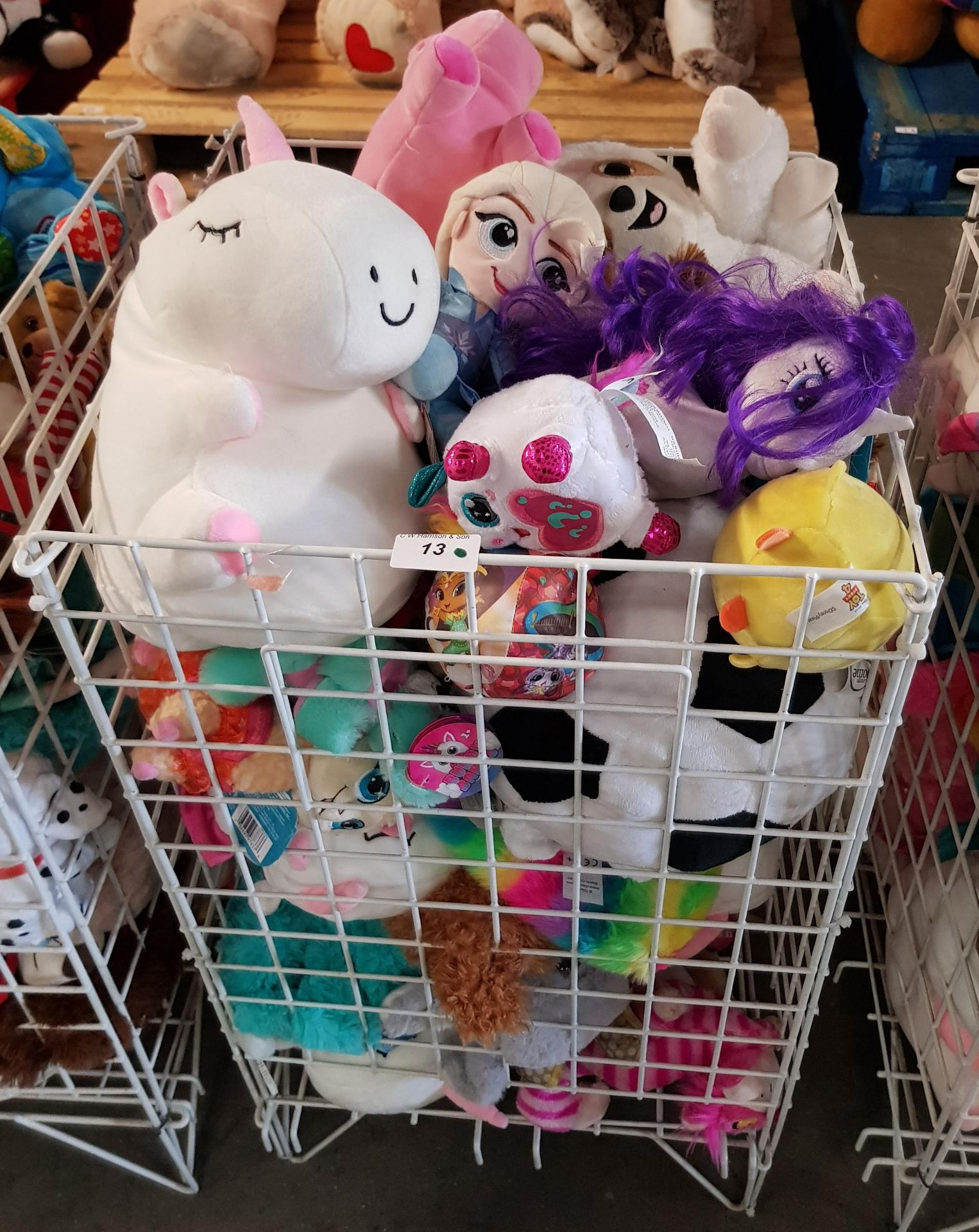 Lot 13 - CONTENTS OF CAGE - MIXED SOFT TOYS