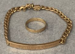A 9ct gold bracelet, approximate weight 16.
