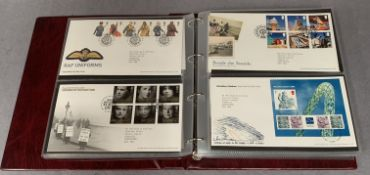 An album containing 121 Royal Mail First Day Covers,