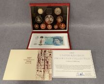 A 1997 UK cased proof coin collection produced by the Royal Mint complete with certificate of