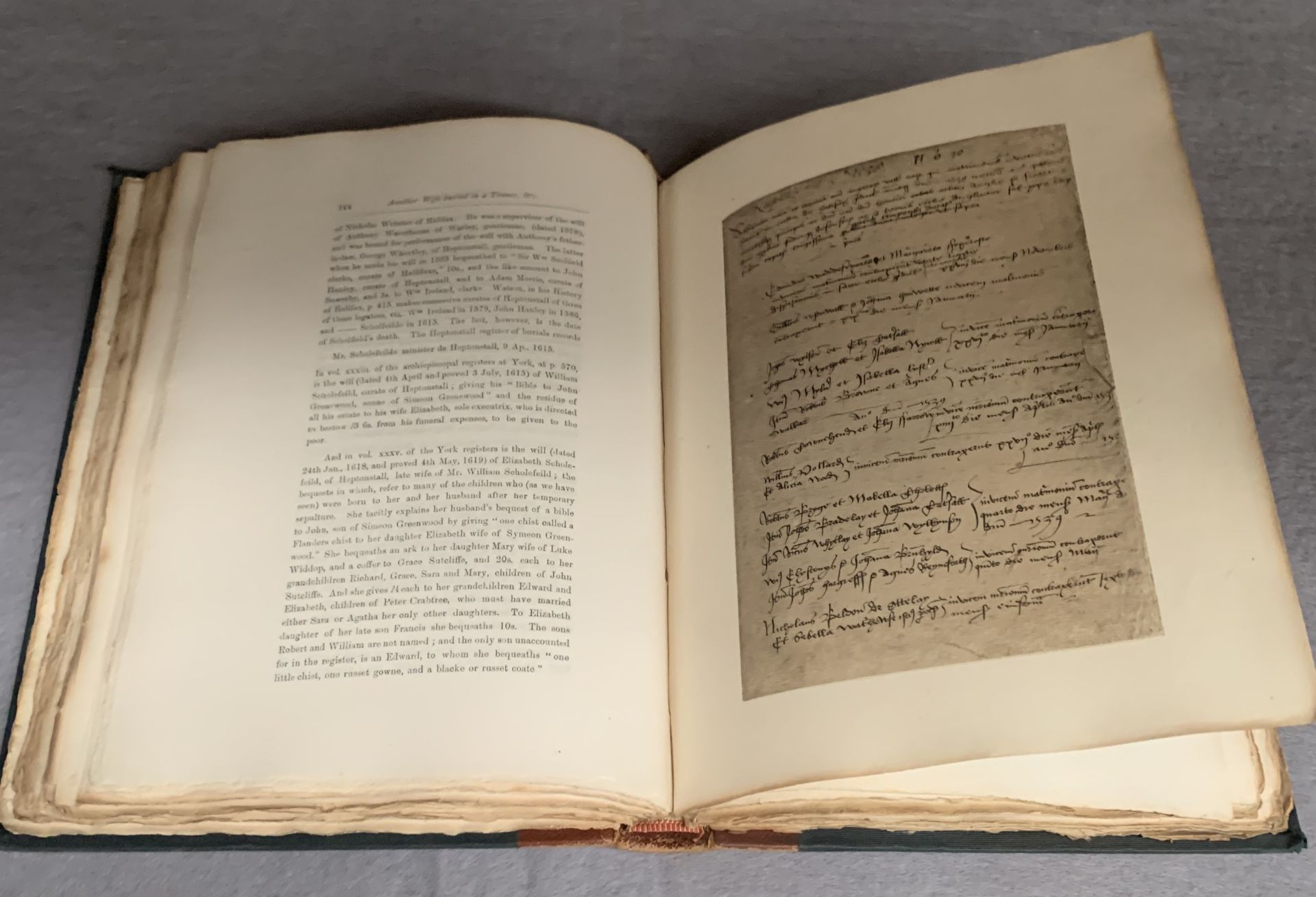 Lot 515 - Walter James Walker chapters on The Early |Register of Halifax Parish Church from the local