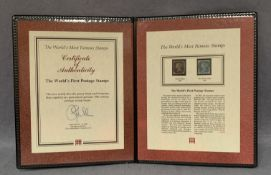 A Westminster folder containing The World's First Postage Stamps,