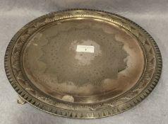 A plated circular salver,