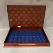 A wooden tray for A United States Presentation Dollars Collection (no coins)