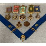 A collection of RAOB medals and badges,