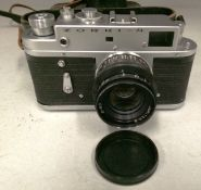 Zorki-4 camera S/N 69944122 with leather case