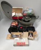Pentax data pack, pack of 52 x CD-R discs, Jobo comparator, glassless diabinders,
