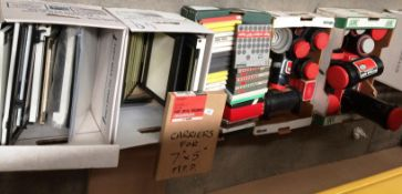 Contents to five boxes - packs of Philips high output Hi-Fi tape, Jobo ro-tanks etc.