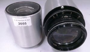 2 x items - Carl Zeiss 6832176 S-Biogon 1:5,6 F=40mm lens and a 14A/780 No.