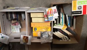 Contents to three boxes - Kodak carousels, small quantity of music CD's - Carpenters etc.