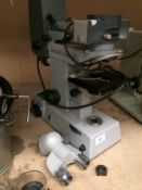 Reichert Fluorvar microscope with attachments/lens (Plug cut off,