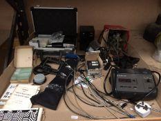 Contents to tray - Franke & Heidecke Rollei flash, LPL color head dichroic transformer,