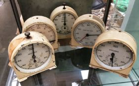 5 x Smiths Timer stop clocks by English Clock Systems