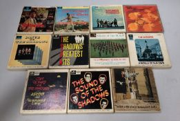 10 x assorted music track mono reel tapes - The Seekers, The Shadows etc.