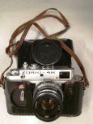 Zorki-4K camera S/N 74115085 with leather case