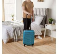(HZ5) Teal Cabin Bag Fits most budget airlines baggage restrictions including Ryanair, EasyJet,