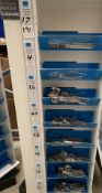 Contents to one side of an 8 shelf display - 191 pieces of Amefa Colorado cutlery - including